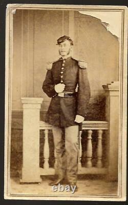 Civil War CDV Union Captain Daniel C Knowlton 114th NYVI KIA Cedar Creek