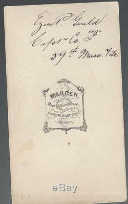 Civil War CDV Union Captain Ezra Palmer Gould of Cambridge, 24th/55th/59th Mass