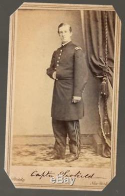 Civil War CDV Union Captain James Kitchen Scofield 19th Pa Vols