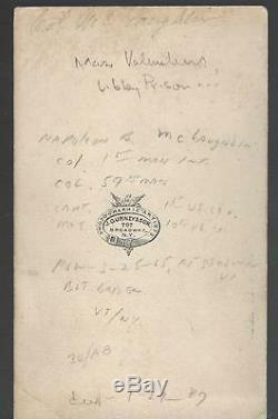 Civil War CDV Union Colonel Napoleon Bonaparte McLauglen BBG