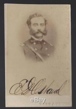 Civil War CDV Union Colonel and BBG Embury D Osband 4th Illinois Cav, 3rd USCT