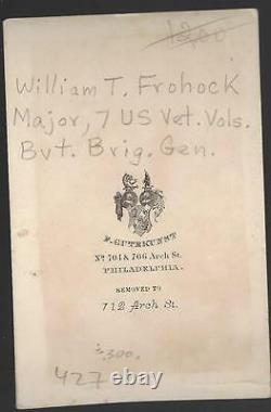 Civil War CDV Union Colonel and BBG William T Frohock 7 Buffalo Soldiers IndianW
