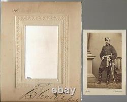 Civil War CDV Union General & Autograph Louis Blenker