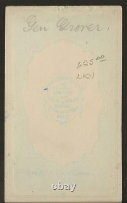 Civil War CDV Union General Cuvier Grover by Fredericks NY