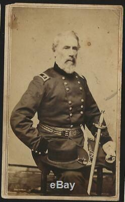 Civil War CDV Union General Edwin V Sumner taken in Syracuse before his Death