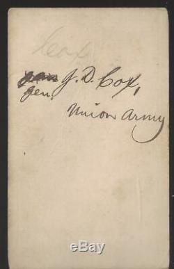 Civil War CDV Union General Jacob D Cox