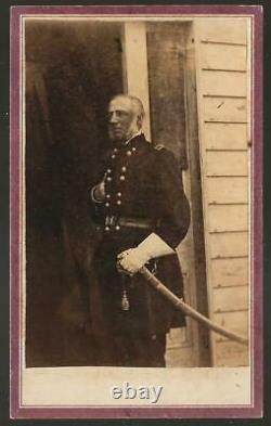 Civil War CDV Union General James Wadsworth KIA With Revolutionary War Sword
