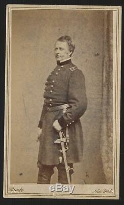 Civil War CDV Union General Joseph Hooker with Rare Presentation Sword by Brady