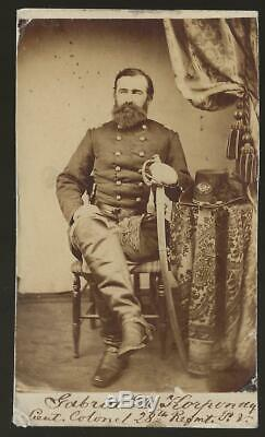 Civil War CDV Union Lt Colonel Gabriel De Korponay Hungarian Exile
