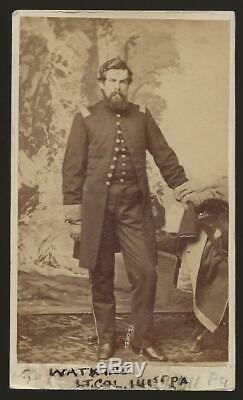 Civil War CDV Union Lt Colonel Guy H Watkins 141st Pa Vols. KIA Petersburg