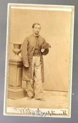 Civil War CDV Union Lt George A Wing 118th NYVI & 14th NYHA