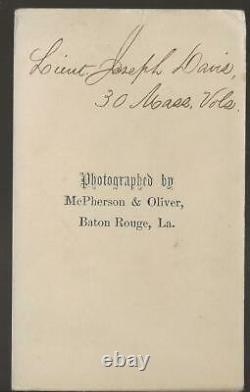 Civil War CDV Union Lt Joseph Davis 5th/30th Mass Vols, McPherson & Oliver