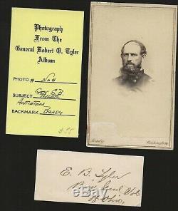 Civil War CDV and Autograph of Union General Erastus B Tyler, from Gen'l Tyler