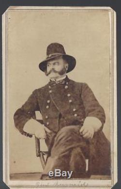 Civil War CDV of Ambrose Burnside in Tennessee Brigadier General 17