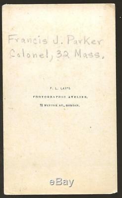 Civil War CDV of Colonel Francis J Parker 32nd Massachusetts Volunteers