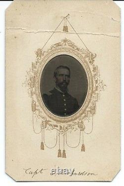Civil War CDV of Union Captain Edmond Richardson 26th Michigan Vols