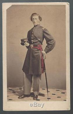 Civil War CDV of Union Captain Edward C Palmer 13th & 56th NY Infantry