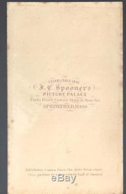 Civil War CDV of Union Colonel George D Wells 1st & 34th Mass Vols KIA Cedar Crk