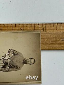 Civil War CDV photograph civil war Union cavalry shell double armed sword