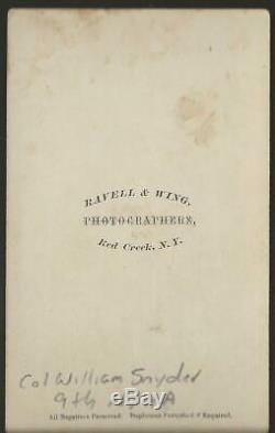 Civil War CDV's Colonel Miles Dixon KIA Harper's Ferry 1862
