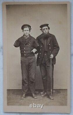 Civil War Cabinet Card Portrait Double Amputee Richard D. Dunphy & Joe Parsons