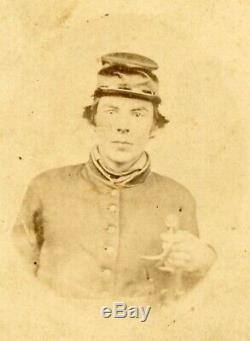 Civil War Cavalry Soldier CDV Campbell & Ecker Louisville KY Photographer
