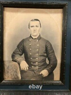 Civil War Confederate Soldier Albumen Photo from Louisianna ACW Possible ID