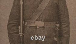 Civil War Confederate Soldier Armed Rifle Albumen Photo ACW