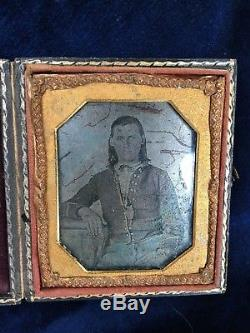 Civil War Confederate Soldier Dag or tin type photograph 1860's