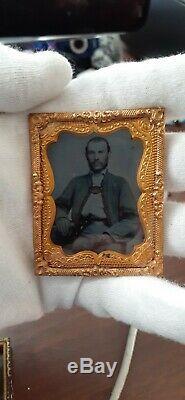Civil War Confederate  Zouave Tintype 1/9 plate RARE