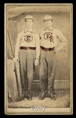 Civil War Era 1860s CDV Photo Connecticut Firemen or Baseball Players ID'd