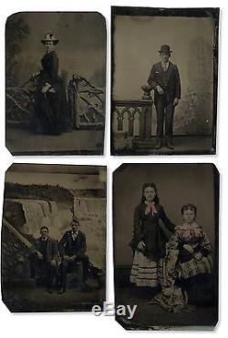 Civil War Era 9th Plate Tintypes Melainotype Ferrotype Photo 1860's Ninth Circa