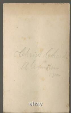 Civil War Era CDV Christ Church & Cemetery Alexandria Virginia 1860's