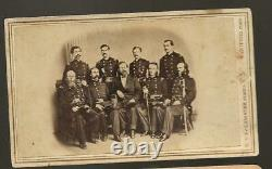 Civil War Era CDV General/Governor of Connecticut Joe Hawley and Staff