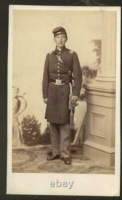 Civil War Era CDV John F Cooley 145th NYVI WIA Cold Harbor