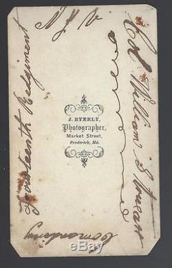 Civil War Era CDV Union Colonel William S Truex 5th/10th/14th New Jersey Vols