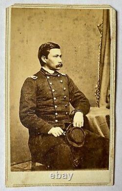 Civil War Era CDV of KIA Union General George Bayard as Colonel, 1st Penn. Cav