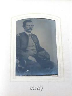 Civil War Era Photo Album CDV/Tintypes Soldiers, Tom Thumb, Lincoln Bordentown, NJ
