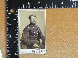 Civil War General Emory Upton cdv photograph by Mathew Brady