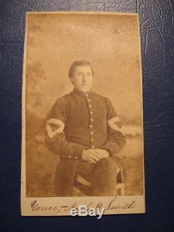 Civil War IDED SIGNED CDV NOAH D. SMITH QM SERGT 56TH NY VOLUNTEERS