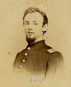 Civil War Ink I'd CDV Isaac L. Huntington 10th New York Heavy Artillery Co. F