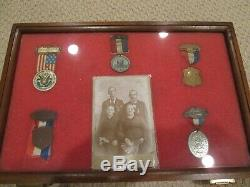 Civil War Knoxville Tenn GAR Badge Collection And Knoxville Photograph