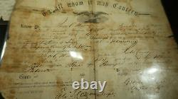Civil War Letter Ribbon Photo and Discharge Paper Grouping POW Wounded