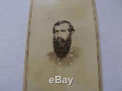 Civil War Officer Lieut. General John C. Pemberton Confederate Anthony Back CDV