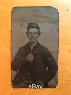 Civil War Original Tintype Image Partial ID