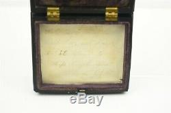 Civil War Photo 1/9th Ambrotype Armed Soldier Revolver & Rifle with Union Case VN