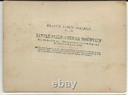 Civil War Rare Brady Album Gallery Card Battlefield of Cedar Mtn