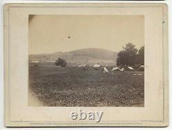 Civil War Rare Brady Album Gallery Card Battlefield of Cedar Mtn View of the Mtn