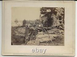 Civil War Rare Brady Album Gallery Card Bridge over N Fork Rappahanock Engineers
