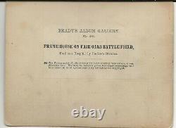 Civil War Rare Brady Album Gallery Card Frame House Fair Oaks Battlefield